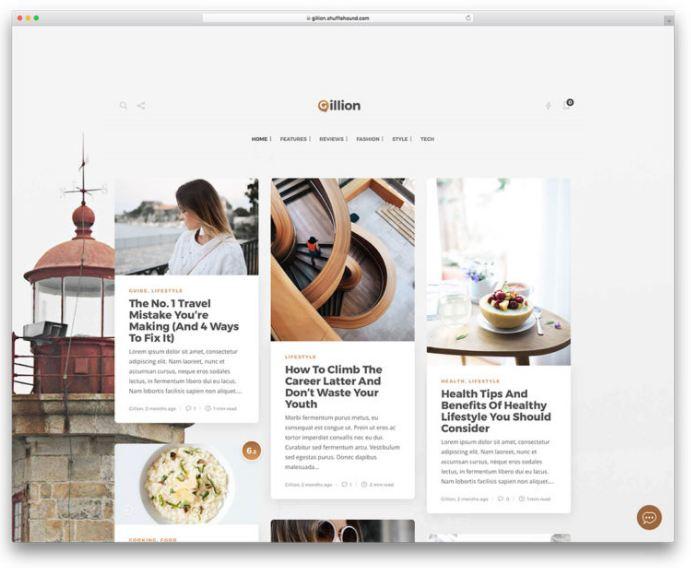 Gillion - theme wordpress chuẩn seo giao diện tinh tế