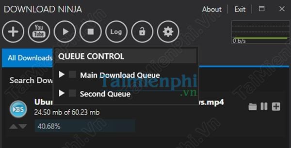giao diện download ninja