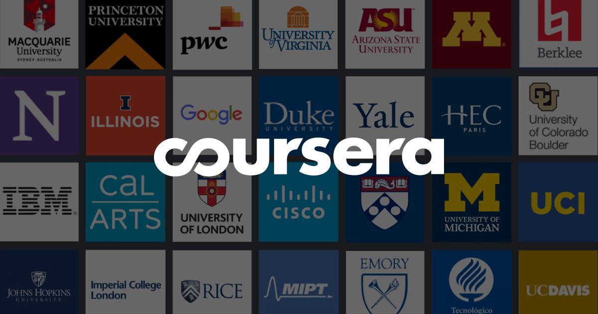 Coursera là địa chỉ website tin cậy và là nơi bắt đầu cho người mới rất tốt